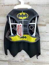 Batman Dog Costume Harness w/ Cape Size S NWT Justice League  HALLOWEEN  Fun!