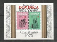 Dominica 1979 NATALE MINISHEET SG, ms686 U / M, N / H LOTTO 3700a