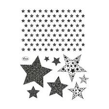 Viva Decor A5 Clear Silicone Stamps Set - Stars #147