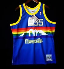 100% Authentic Mitchell & Ness Dikembe Mutombo Nuggets NBA Jersey Size 52 2XL
