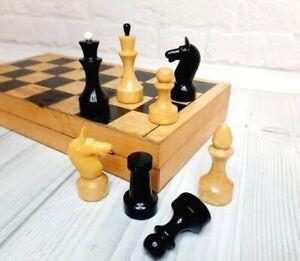 Wooden Chess USSR  Full Set Grossmeister Vintage Soviet 29 X 29 cm