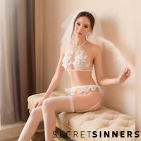 Sexy Lace Lingerie Set Honeymoon Bridal Lingerie Underwear Outfit Set UK 6 8 10