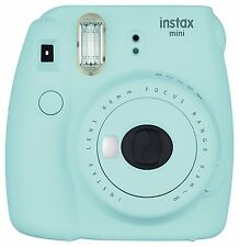 Fuji Instax Mini 9 Fujifilm Instant Film Camera Ice Blue USA Model!