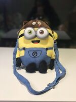 Brand New Minions Bob Minion Teddy Bear Shoulder Bag Universal Super Cute