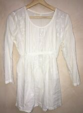 Ladies Round Neck Long Sleeve White Top Size S Fabiridia<NH6785