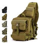 Men's Nylon Military Travel Hiking Messenger Shoulder Backpack Sling Chest Bag
