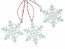 3 Piece Christmas Tree Pendant Ornament Decoration Snowflake White