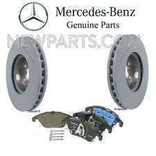 For Mercedes W212 C207 W205 C Class Front Brake Pad Set & 2 Disc Rotors Genuine
