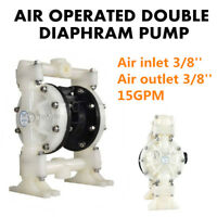 15GPM Air-Operated Double Diaphragm Pump Santoprene 1/2'' Inlet Petroleum Fluids