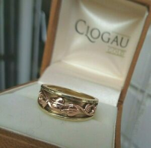 Clogau Welsh 9ct Rose & Yellow Gold Tree Of Life Ring Solid Style 1990s  size L