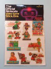 1988 Nintendo Official Video Game Stick Ons Super Mario Zelda Sealed NES era