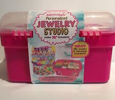 Just My Style Personalized Jewelry Studio 30+ Bracelets Ages 6+ Plastic Case Nwt
