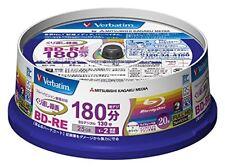 Mitsubishi Verbatim Blu-ray BD-RE 25GB 2x Speed Rewritable Disc, 20-Disc Spindle