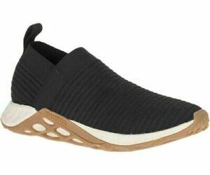 Mens Merrell Range Laceless Elastic Slip On Shoes Trainers Size UK 8 42 Black