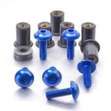 Pro-Bolt Aluminium Screen Kit 6 Bolt Etched - Blue Suzuki GSX-R1000 K3-K4 03-04
