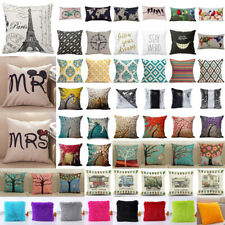 Pillowcase Linen Sofa Throw Waist Pillow Case Cushions Cover Home Sofa Room Deco