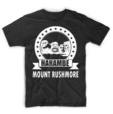 Harambe Mount Rushmore T-shirt Support Harambe T-shirt
