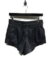 Helmut Lang Black Perforated Lambskin Leather Boxing Shorts