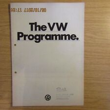 VW VOLKSWAGEN Passat Beetle Karmann Ghia 412LS K70LS UK Range Brochure 1973