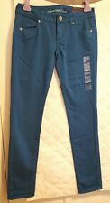 American Eagle Outfitters Juniors Size 0 Reg Stretch Blue Skinny Jeans NWT