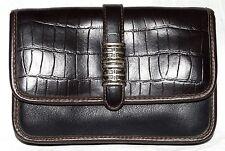 St Johns Bay w/ Black Brown Croc Flap Leather Clutch Bag & Zip Around Organizer