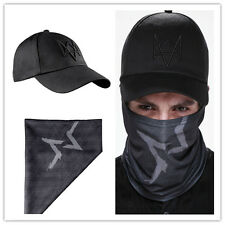 Watch Dogs Game Aiden Pearce Face Tube Mask Warmer Scarf + hat Cosplay Costume