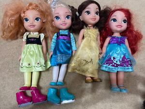 Disney's toddler dolls. Elsa, Anna, Belle and Ariel.