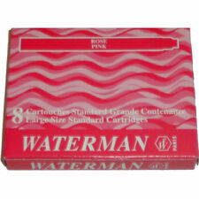 WATERMAN ROSE PINK  INK CARTRIDGES NEW IN BOX  8 CARTRIDGES EXACLY AS IN PHOTO