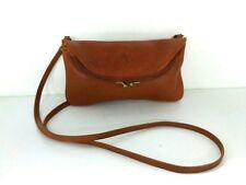 Auth IL BISONTE Brown Leather Shoulder Bag