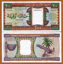 Mauritania, 200 Ouguiya, 1996, P-5 (5g), UNC
