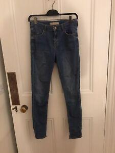 Topshop Blue Skinny Jeans Uk10
