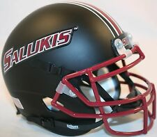 Southern Illinois Salukis (Matte Black) Schutt Xp Mini Helmet
