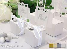 12x Kartonage Stuhl weiss Gastgeschenke Hochzeit Hochzeitsmandeln Verpackung Box