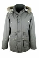 Unbranded Hooded Button Coats & Jackets for Men
