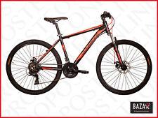 Bici Mountain Bike telaio in acciaio taglia 26 telaio 38 nero-rosso 76491