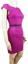 *NEW* ADRIANNA PAPELL HAILEY LOGAN LACE SHIFT DRESS SIZE 12 PINK CERISE COCKTAIL