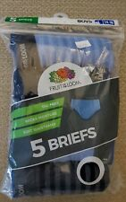 Fruit Of The  Loom Boys  Tag Free Briefs  New Sealed 5 Pack *Size Large (14-16)