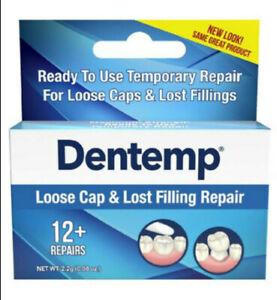 Dentemp One Step Repair Kit, Repairs Loose Caps & Lost Fillings 2.2 g