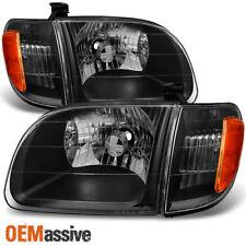 [Black] 2000-2004 Toyota Tundra Regular | Access Cab Headlights w/ Corner Lights