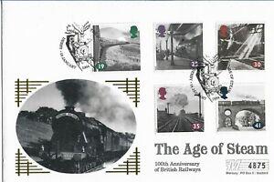 GB 1994 Mercury LE 100th Anniversary of British Railways FDC Derby Pict HS