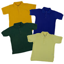 Toddlers Unisex Pique Polo Boys & Girls Classic Uniform Short Sleeve Size 2T- 4T