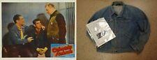 Vintage WRANGLER 1940-50s Tommy Farrell Jean Jacket worn in 1951 Colorado Ambush