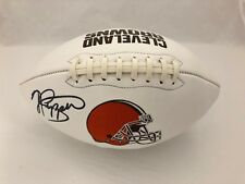 JABRILL PEPPERS CLEVELAND BROWNS SIGNED FOOTBALL (JSA COA)