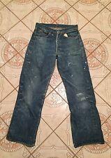 Double X Vtg Leather patch Hidden Rivets Big E Levis 501 Xx 501s Jeans usa 28 27