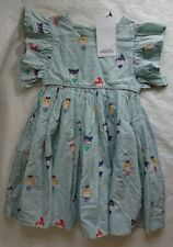 GIRLS DRESS AGE 2-3 M&S TURQUOISE DOLLY PRINT SUMMER BEAUTIFUL BNWT RRP £22