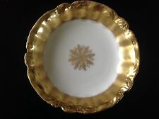 Antique Limoges France Bowl White & Gilt Gold Henry Kohn & Sons Jewelers 9""
