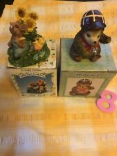 More details for 2 boxed unused animal figurines little meadow mouse and hedgehog