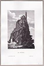 Mont Saint-Michel - Frankreich - Normandie - Ansicht - Original Stahlstich 1850