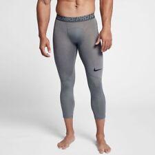 Nike Pro 3/4 Compression Tights Pants Gray Men's Size L Large 838055 091