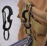 EDC Stainless Steel Black Keychain Carabiner Keyring Bottle Opener D-ring US